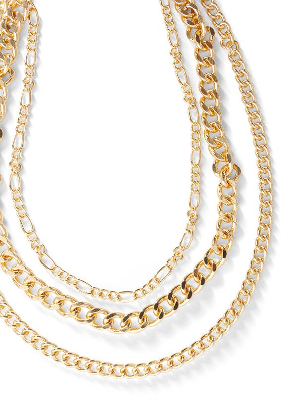 Alternate View Chunky Chain Layer Necklace