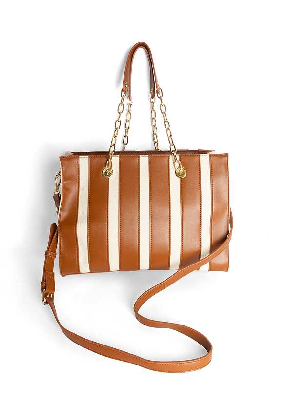 Canvas Striped Tote Bag