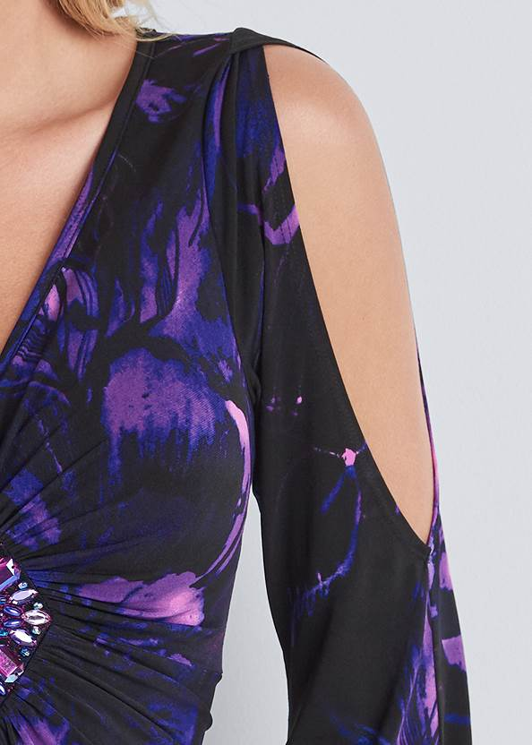 Detail front view Embellished Floral Top