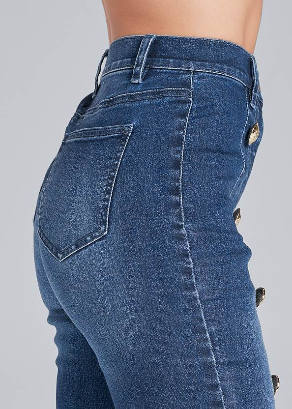 Detail side view Button Detail Skinny Jeans