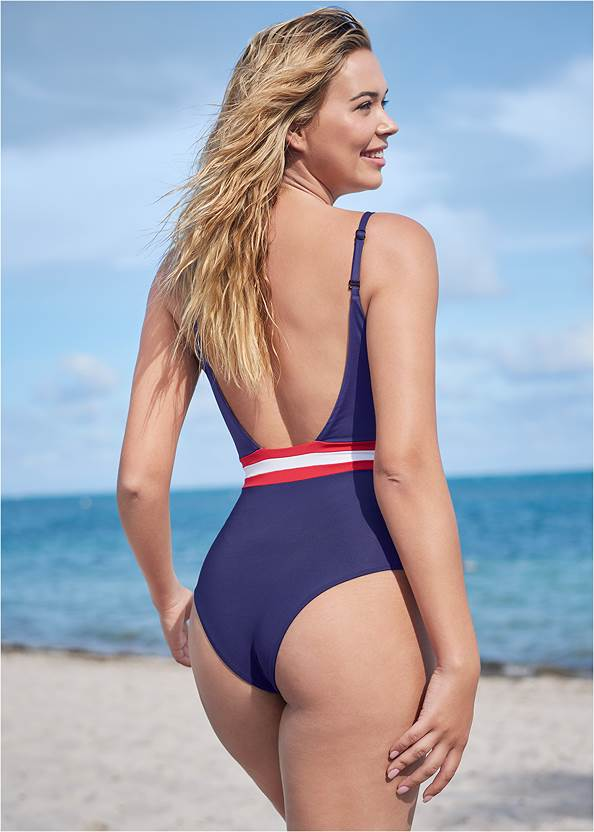 Cropped back view Dreamy One-Piece
