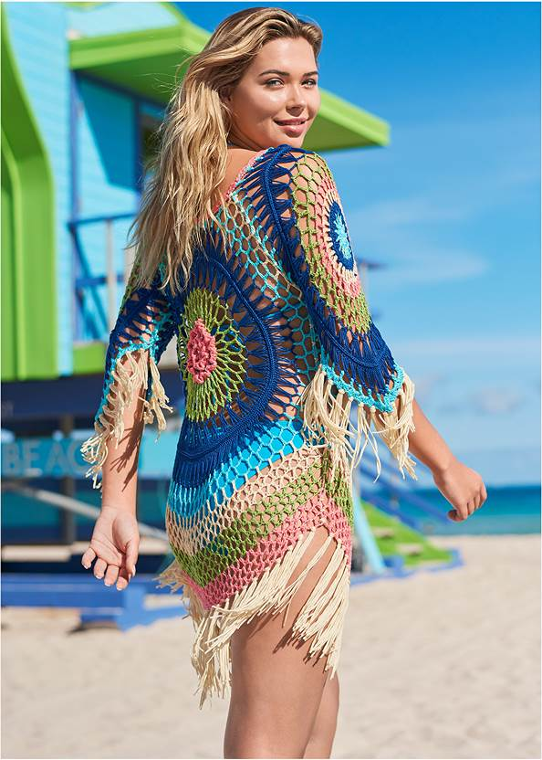 Full back view Crochet Detail Coverup