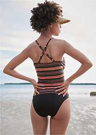 Full back view Ruched Side Halter Tankini Top