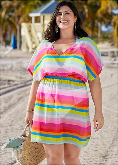 Plus Size Printed Kaftan Cover-Up