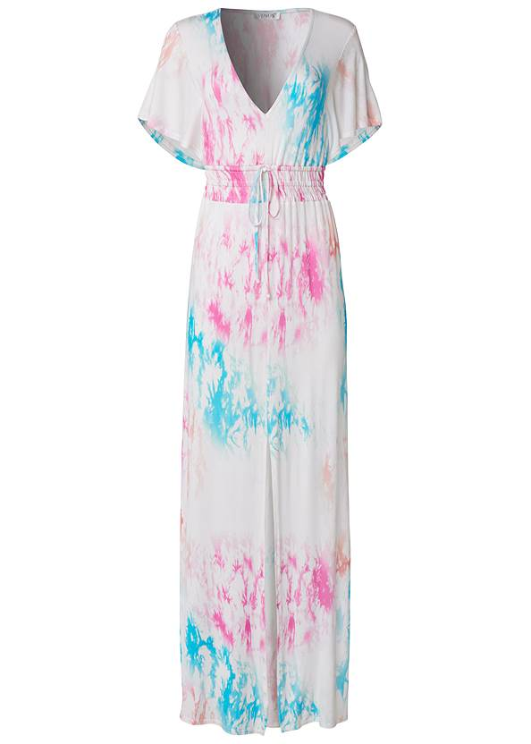 Alternate View Tie Dye Kimono Sleeve Dress