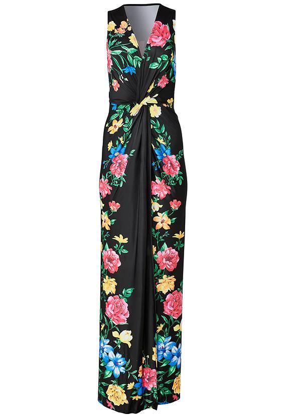 Alternate View Twist Front Floral Maxi Dress