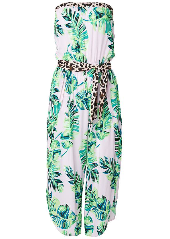 Ghost with background  view Palm Print Jumpsuit