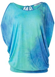 Alternate View Tie Dye Cold Shoulder Top