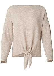 Alternate View Tie Front Sweater