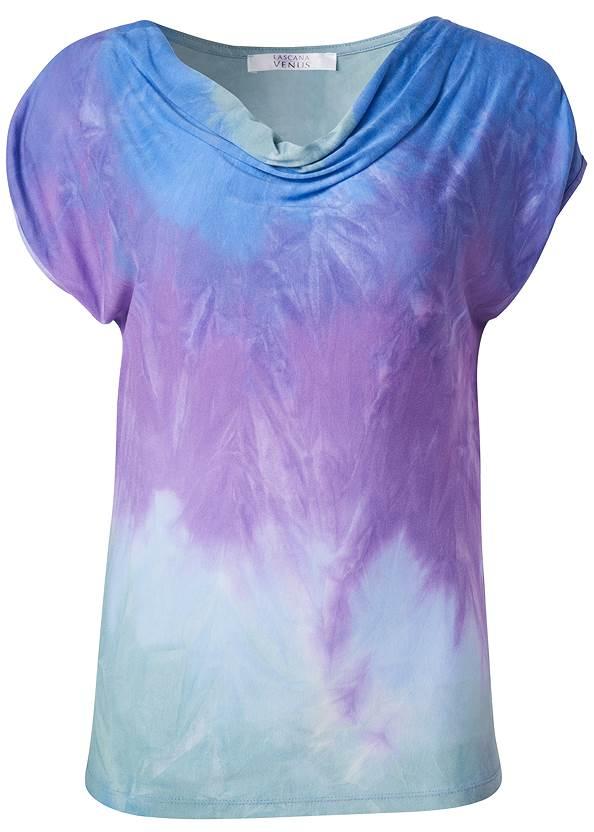 Alternate View Tie Dye Cowl Neck Top