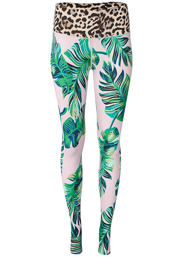 Ghost with background  view High Waist Active Leggings