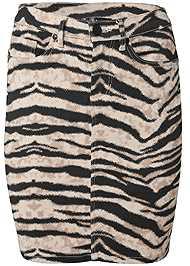 Alternate View Color Mini Jean Skirt