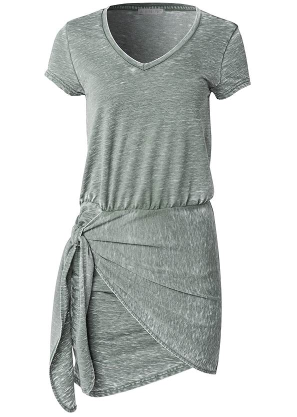 Ghost with background  view Lounge Wrap Dress