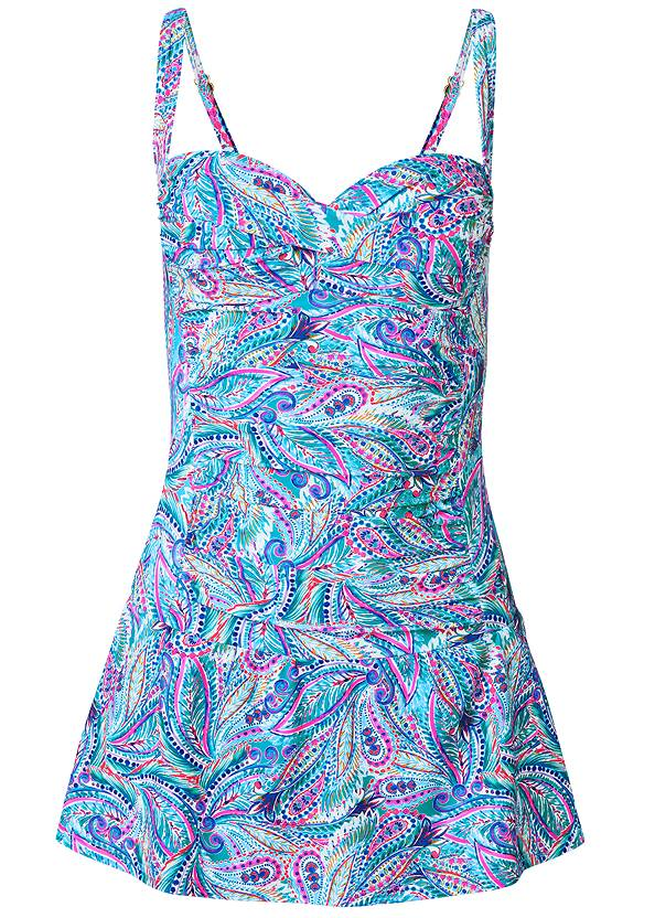 Ghost with background  view Slimming Skirted One-Piece
