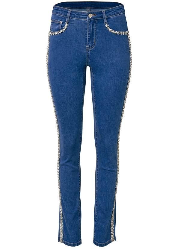 Alternate View Rhinestone Embellished Jeans