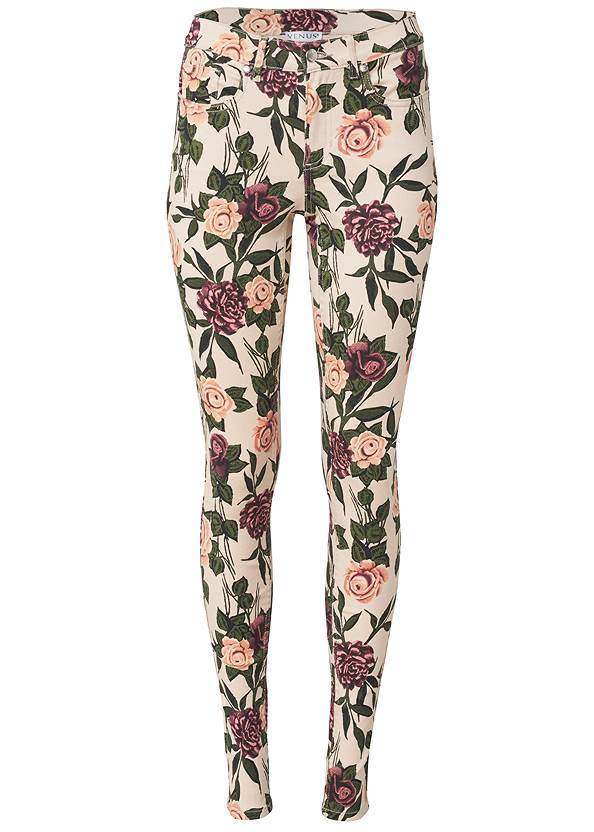 Ghost with background  view Mid Rise Color Skinny Jeans