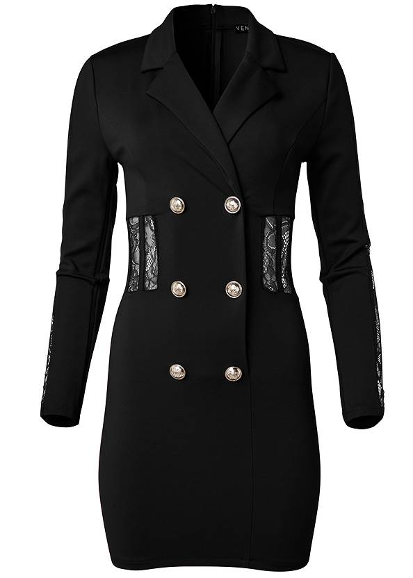 Ghost with background  view Lace Detail Blazer Dress