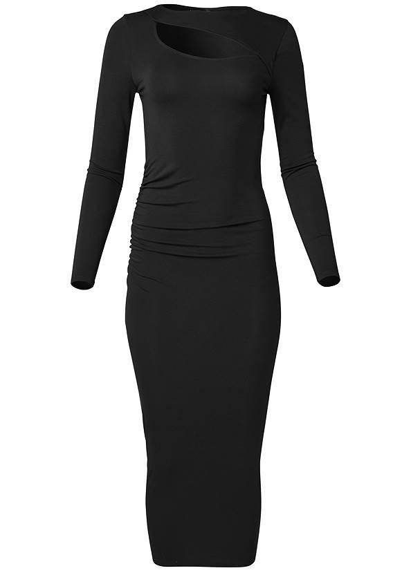 Alternate View Cutout Bodycon Midi Dress