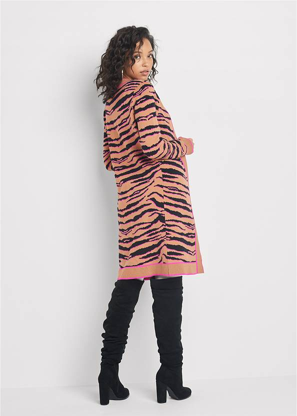 Full back view Tiger Print Duster Set