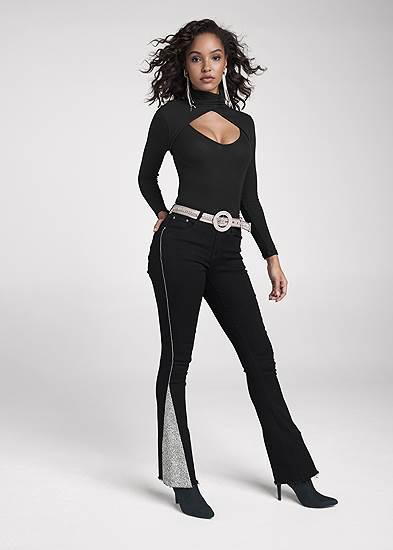 Rhinestone Bootcut Jeans