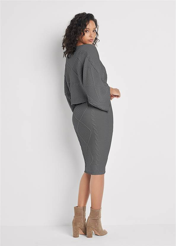Back View Two-Piece Sweater Dress