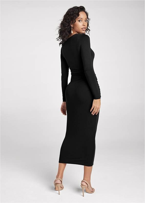 Back View Cutout Bodycon Midi Dress