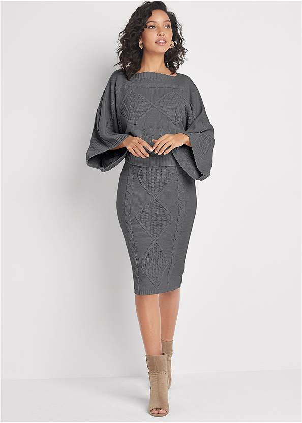 Front View Two-Piece Sweater Dress