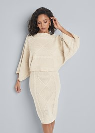 Front View Two Piece Sweater Dress