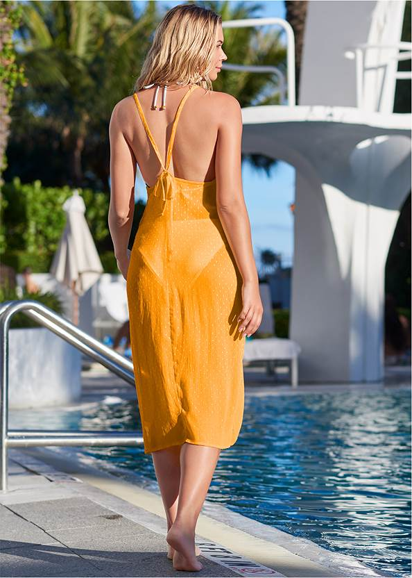Back View Lurex Cover-Up Dress