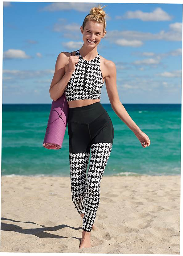 Gym To Swim Legging,Gym To Swim Long Line Top,Gym To Swim Zip Top,Sustainable Crisscross Top,By The Sea Triangle Top,Retro Ring Bralette Top,Button Cover-Up Shirt