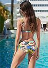 Full back view Underwire Retro Bikini Top