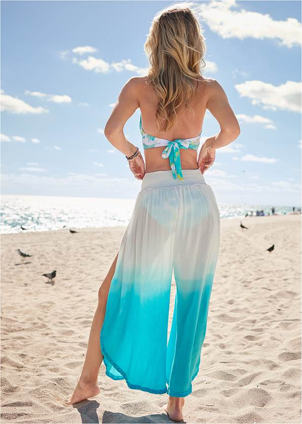 Full back view Ombre Coverup Bottoms