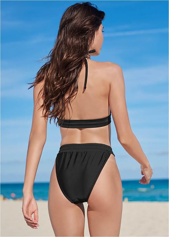 Full back view Sporty High Leg Bottom