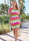 Full front view Printed Kaftan Cover-Up