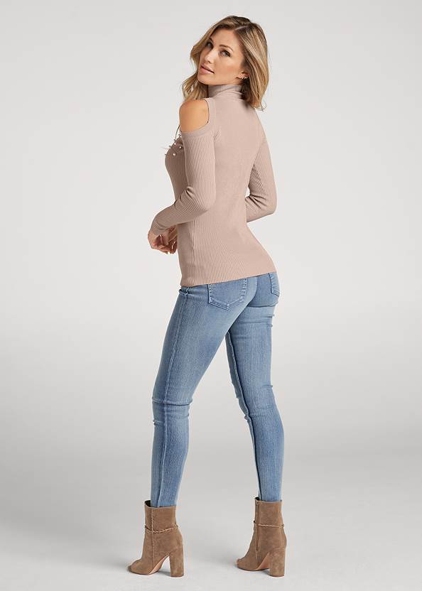 Full back view Pearl And Stone Embellished Sweater