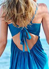 Detail back view Embroidered Cover-Up Dress