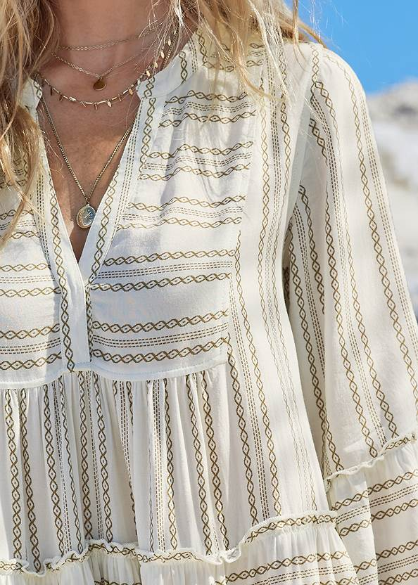 Detail front view Ruffle Cover-Up Dress