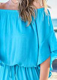 Detail front view Flirty Romper Cover-Up