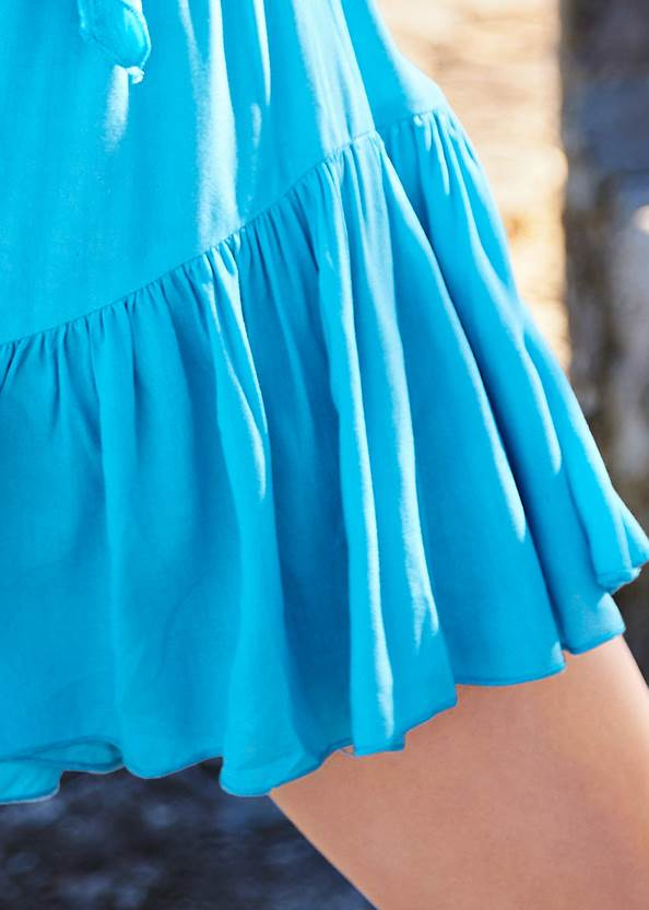 Detail back view Flirty Romper Cover-Up