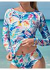 Detail front view Relaxed Fit Rash Guard