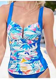 Detail front view Slenderizing Tankini Top