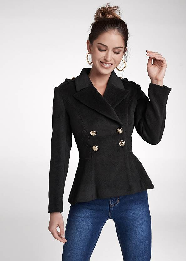 Double Breasted Jacket,Basic Cami Two Pack,Bum Lifter Jeans,Pearl Hoop Earrings