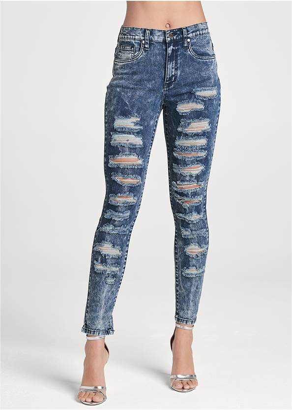 Alternate View Ripped Acid Wash Jeans