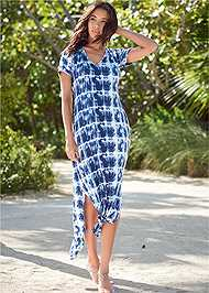 Front View Casual T-Shirt Maxi Dress