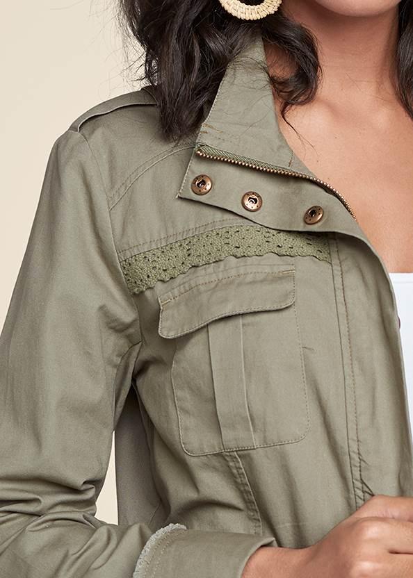 Alternate View Lace Trim Utility Jacket
