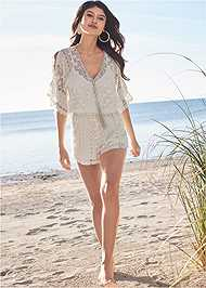 Alternate View Crochet Romper
