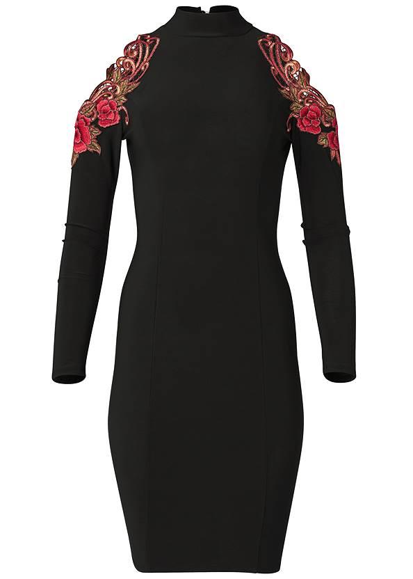 Alternate View Rose Detail Bodycon Dress