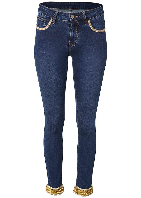 Ghost with background  view Embellished Cropped Jeans