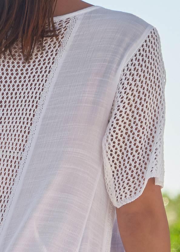 Alternate View Crochet Duster Cover-Up