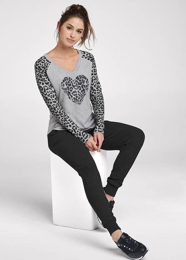 Alternate View Leopard Heart Raglan Top